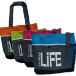 Tote Bags - Orange, Lime, Pink, Aqua