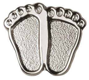 Precious Feet Pin - Silver