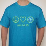 Prolife T-shirt - Peace, Love, Life