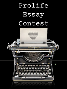 Prolife Essay Contest