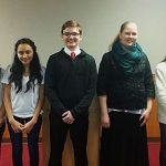 Five Compete in Oratory Contest